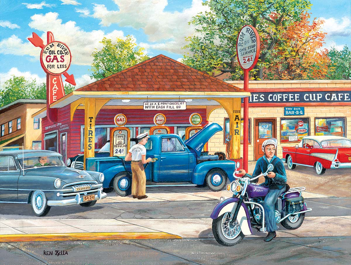 Remembering Full Service Vehicles Jigsaw Puzzle