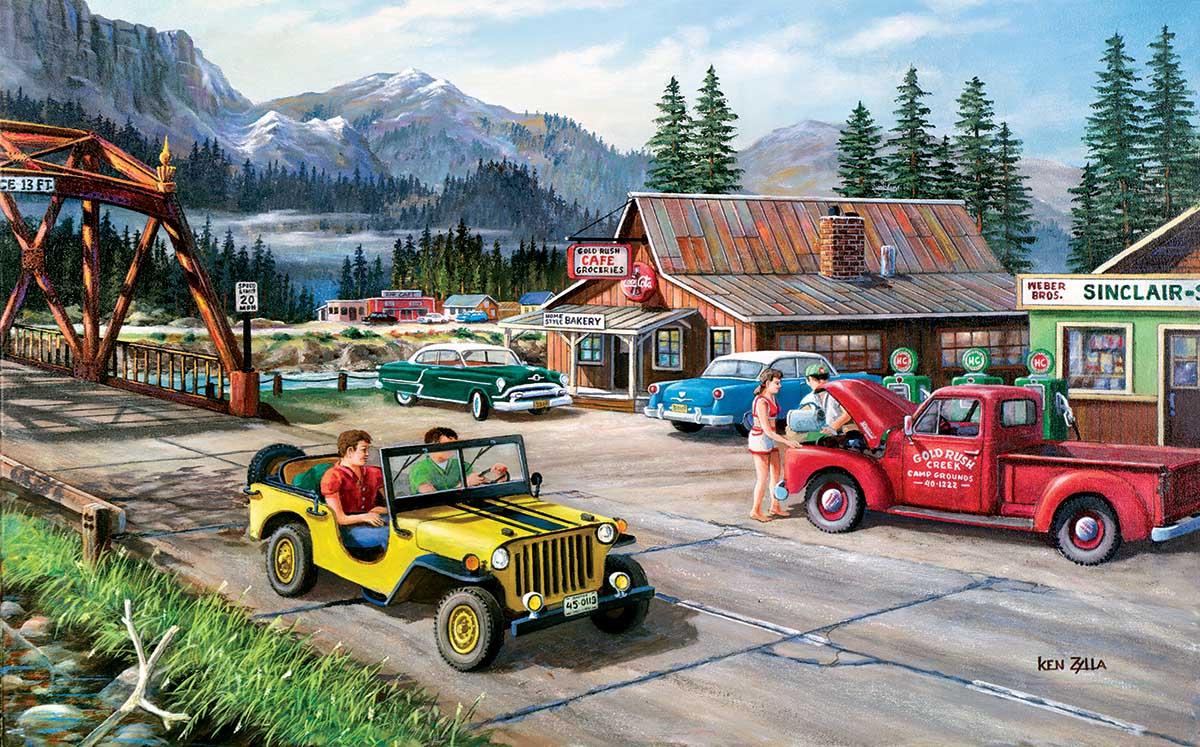 Alaskan Road Trip Cars Jigsaw Puzzle