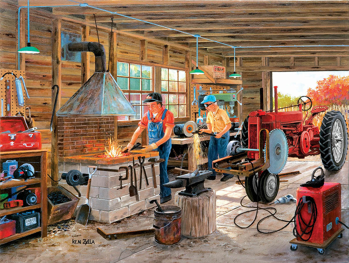 Metal Shop Vehicles Jigsaw Puzzle