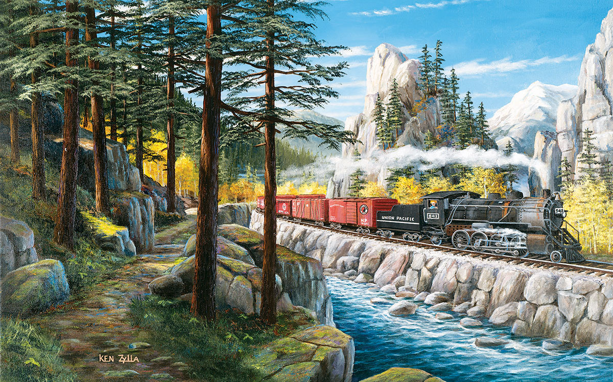 Around the Horn Trains Jigsaw Puzzle