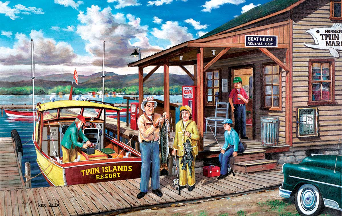 Minnesota Gothic Fishing Jigsaw Puzzle