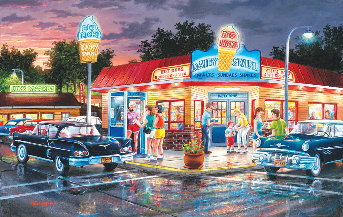 A Touch of August Cars Jigsaw Puzzle