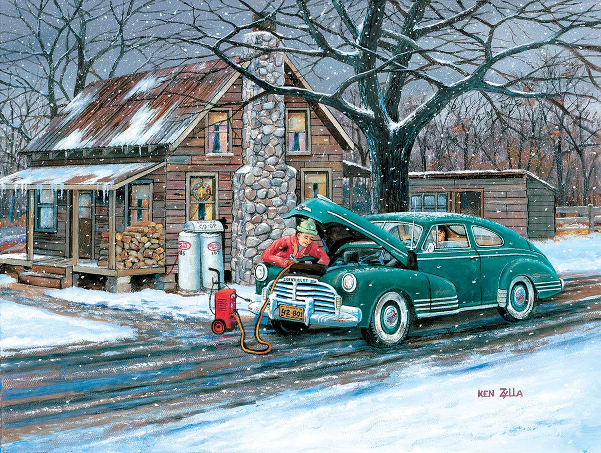 Ok Try It Again Winter Jigsaw Puzzle