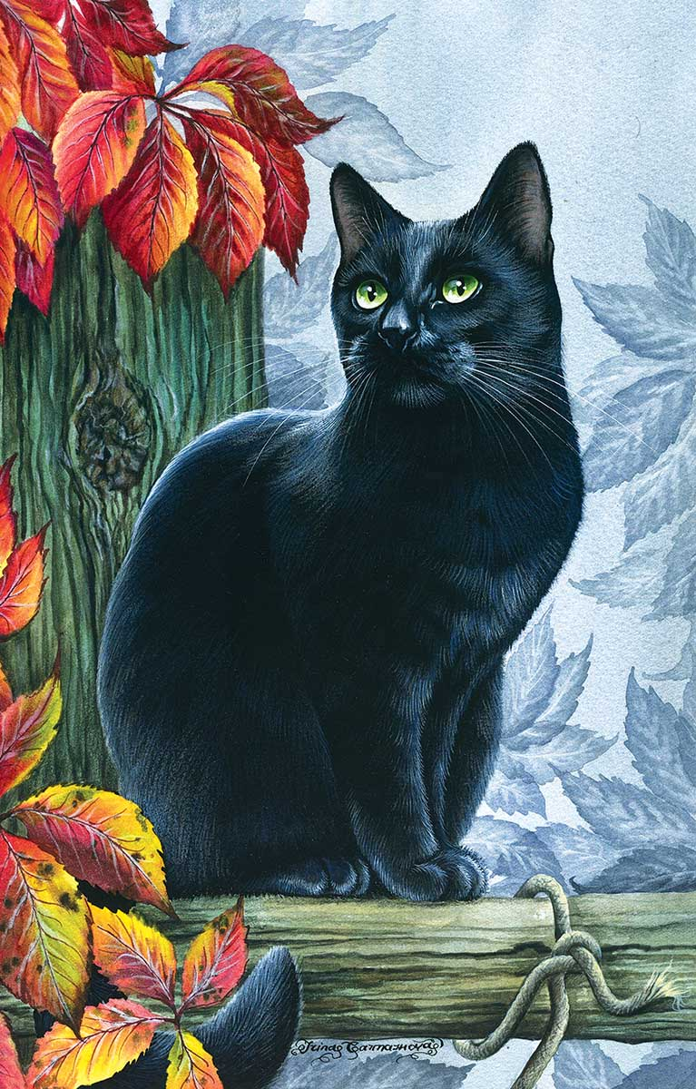 Peace of Autumn Cats Jigsaw Puzzle