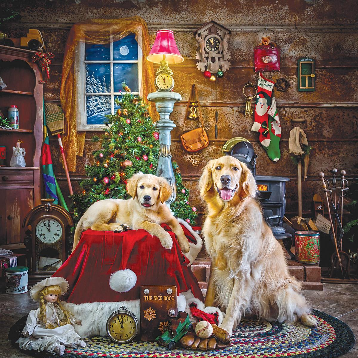 Santa's Little Helpers Dogs Jigsaw Puzzle