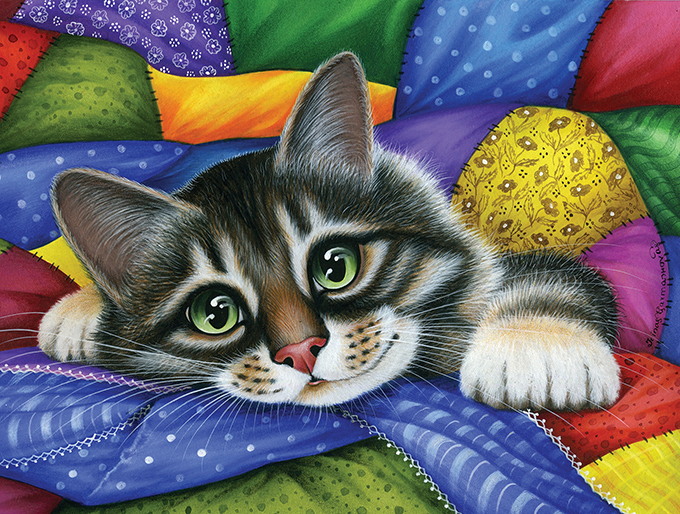 Colorful Patchwork Cats Jigsaw Puzzle