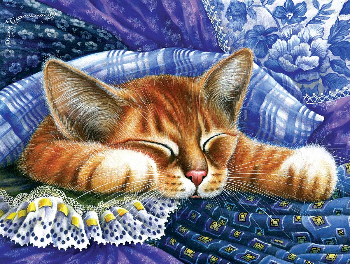Blue Cats Jigsaw Puzzle