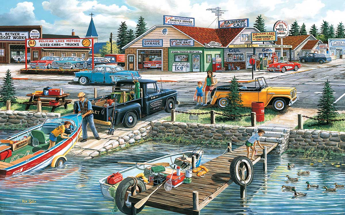 Pelican Lake Cars Jigsaw Puzzle