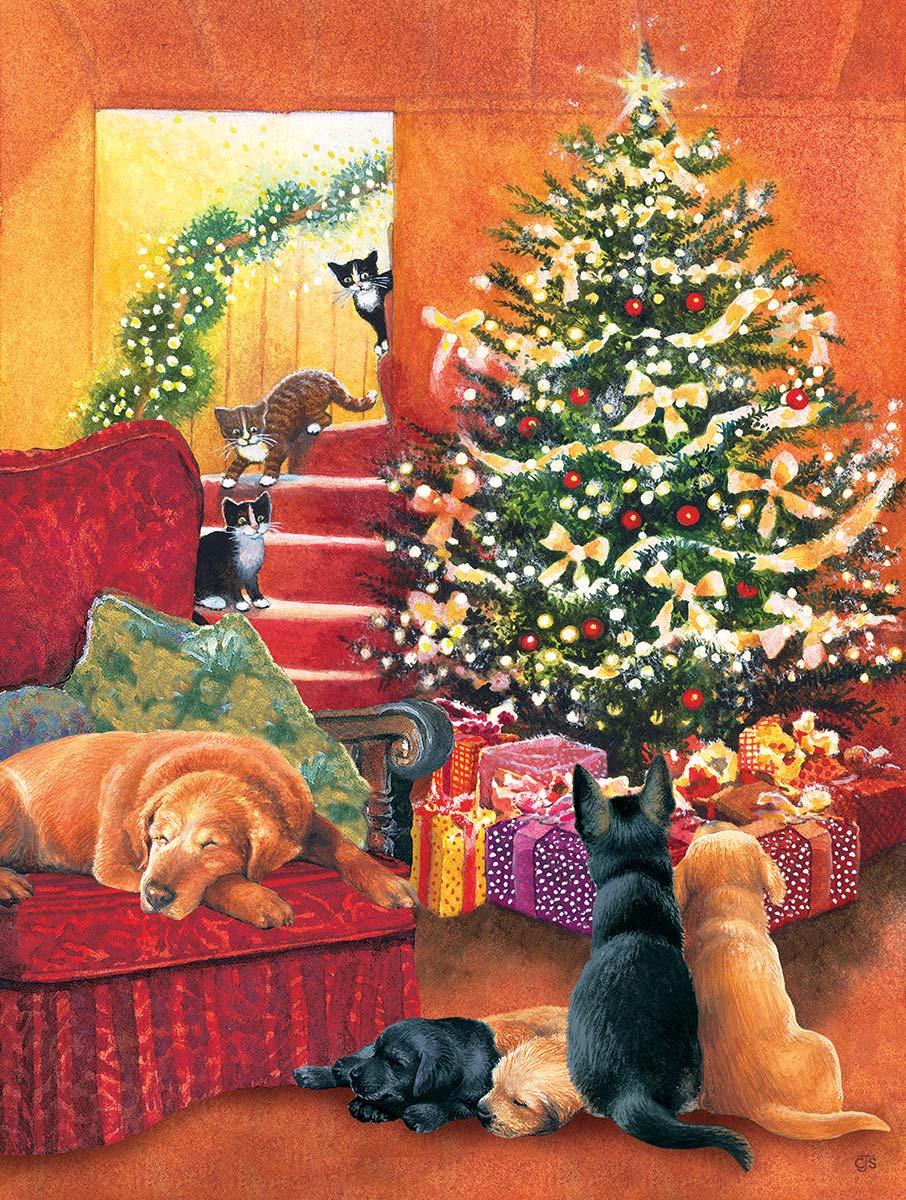 Waiting for Morning Cats Jigsaw Puzzle