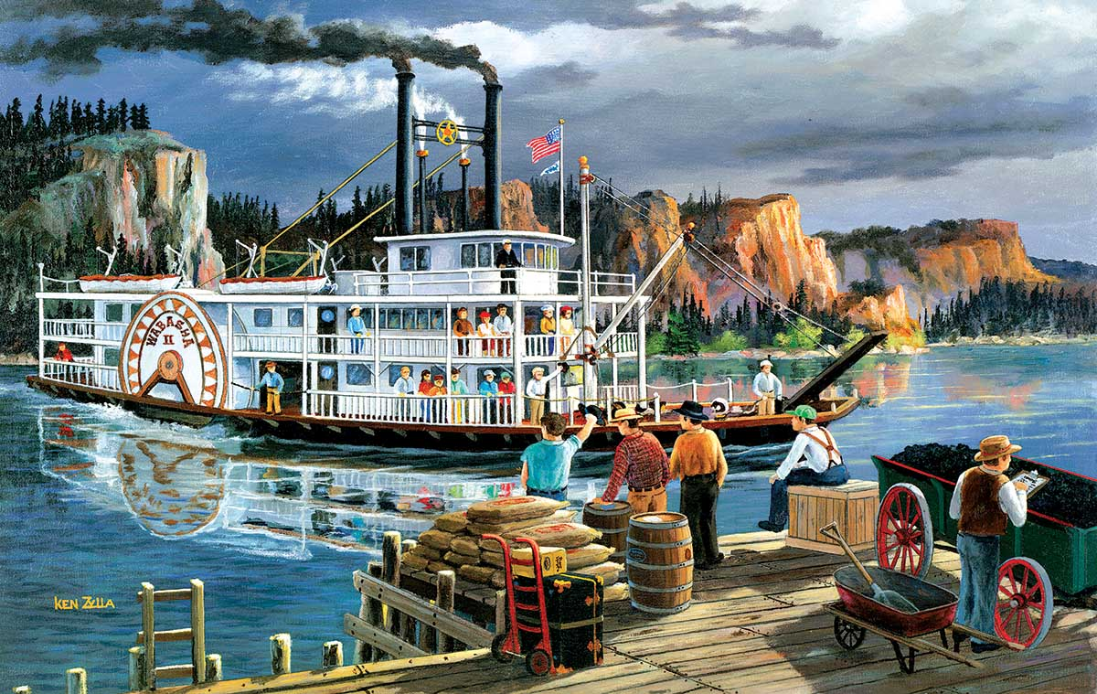 Riverboat Boats Jigsaw Puzzle