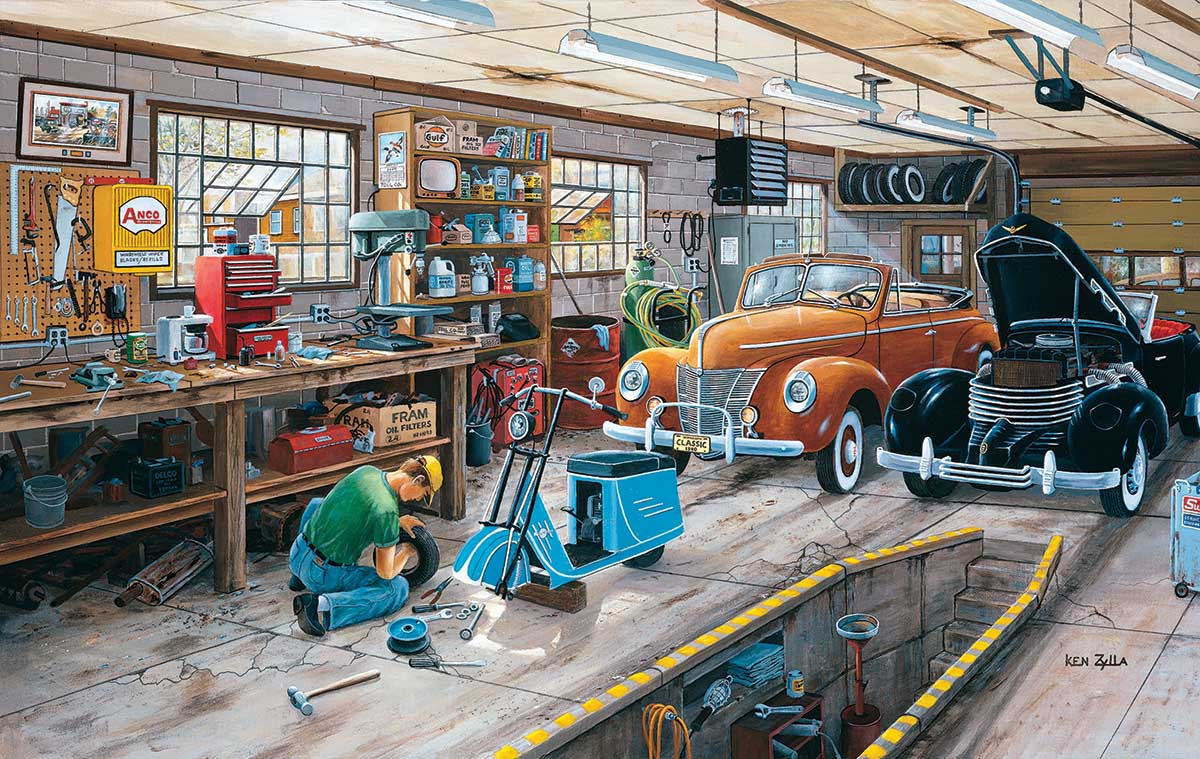 A Ford and a Cord Cars Jigsaw Puzzle