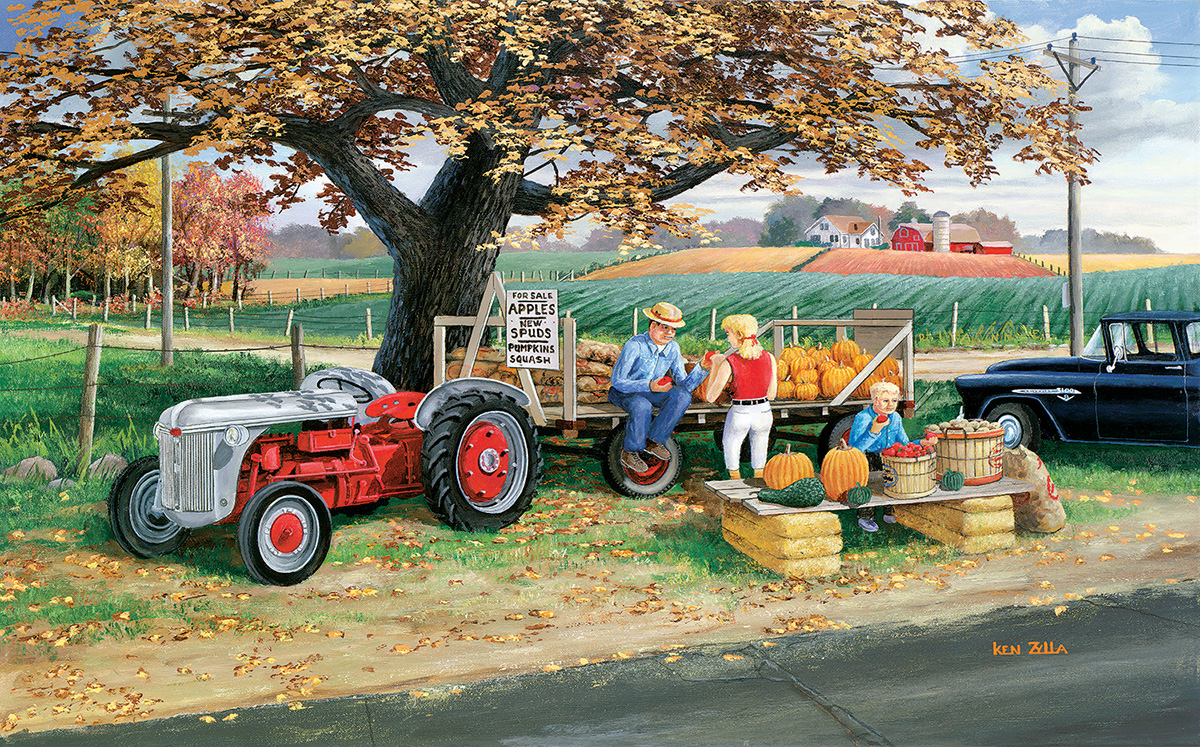 Roadside Harvest Farm Jigsaw Puzzle