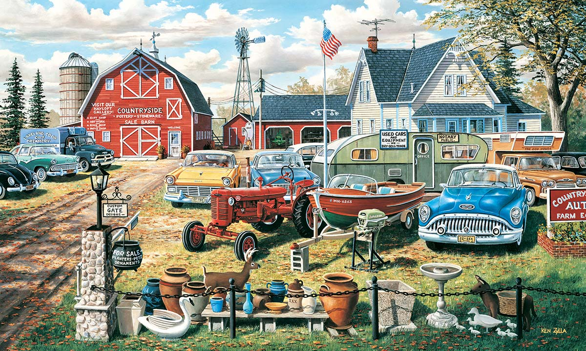 A Bumper Crop Farm Jigsaw Puzzle