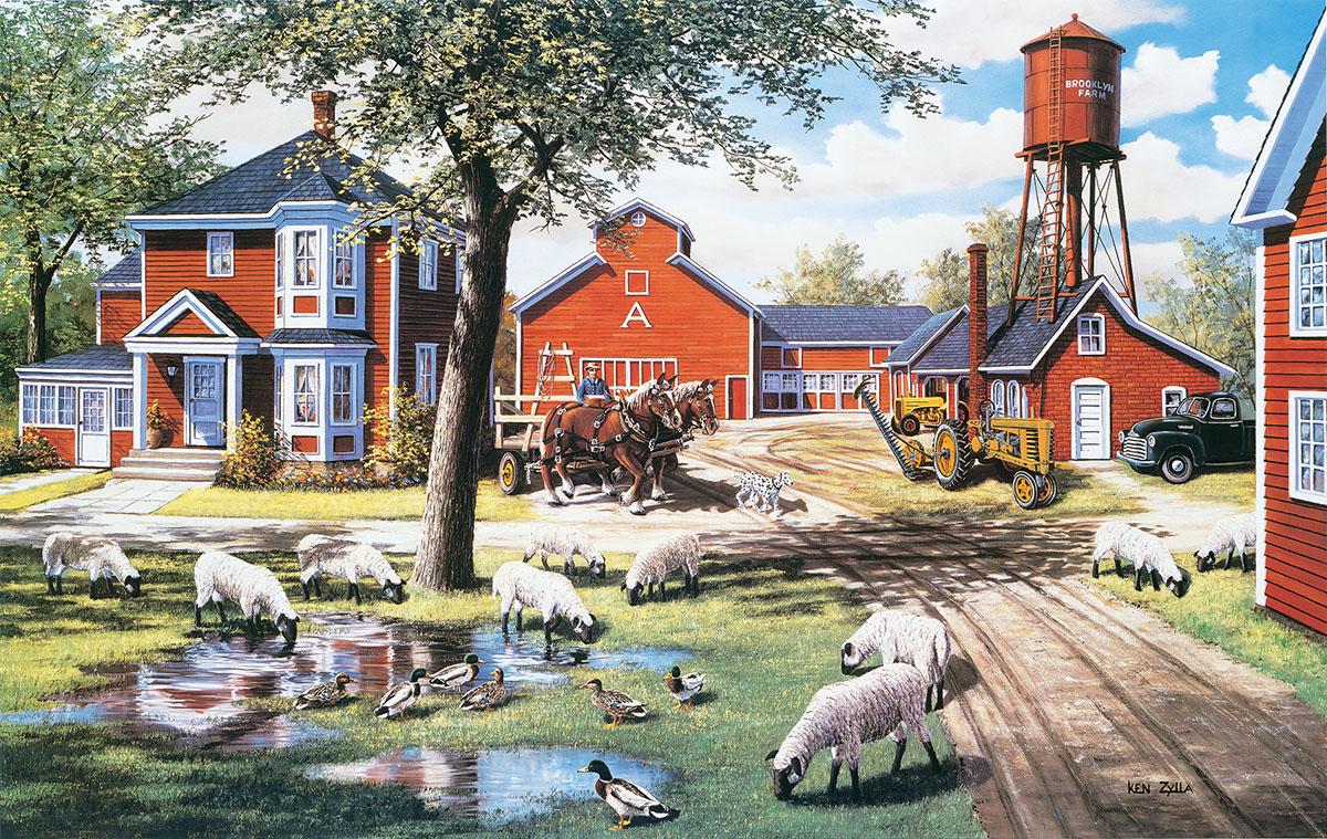 Farmyard Companions Farm Jigsaw Puzzle