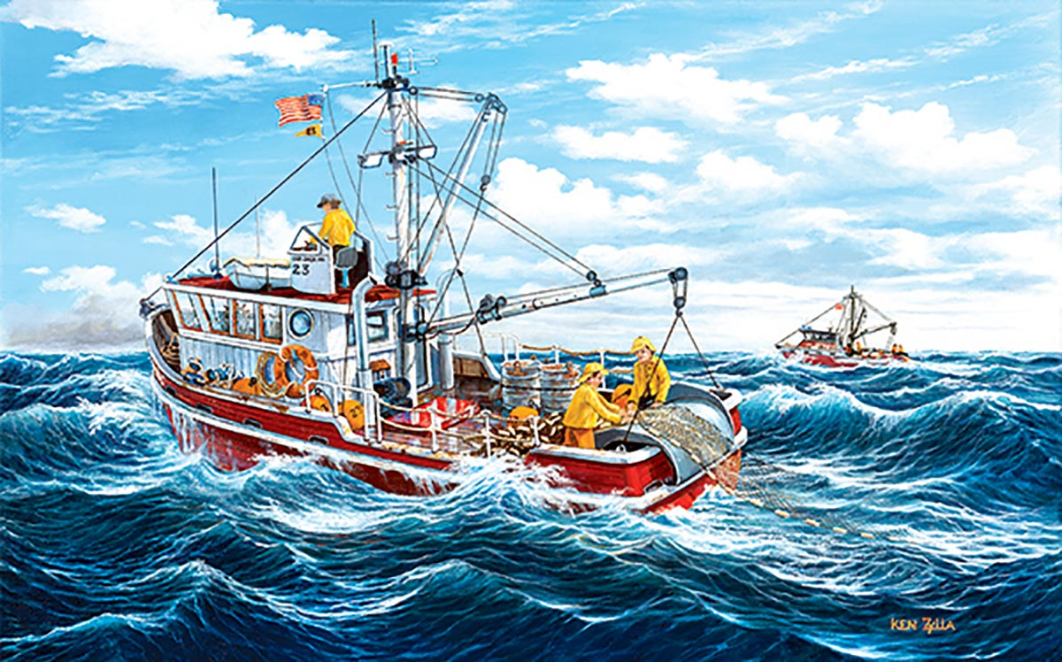Out of Fort Kodiak Boats Jigsaw Puzzle