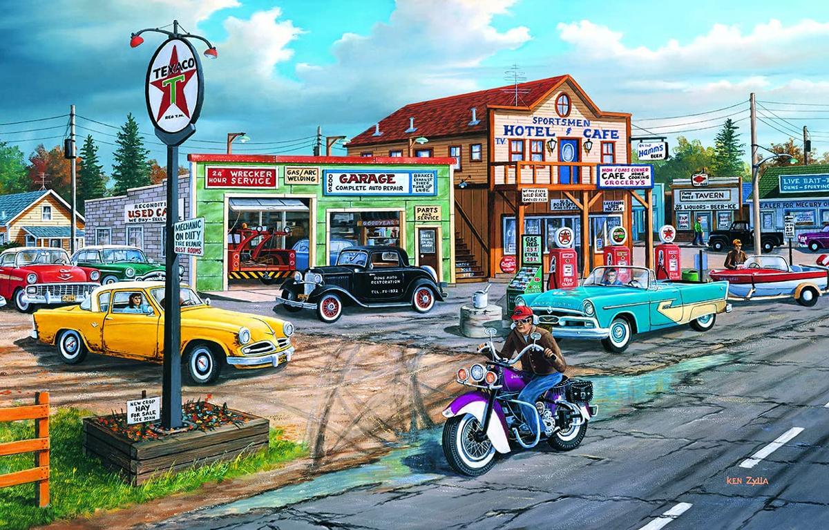 Crossroads Street Scene Jigsaw Puzzle
