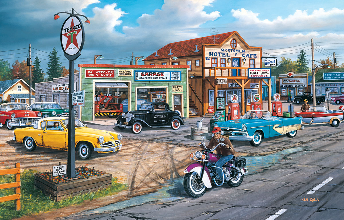 Crossroads - Scratch and Dent Nostalgic / Retro Jigsaw Puzzle