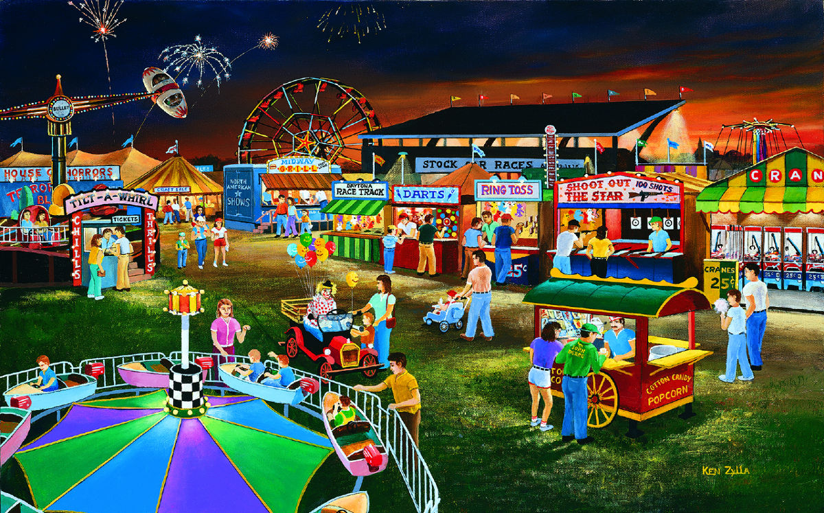 Evening At The County Fair Jigsaw Puzzle Puzzlewarehouse Com