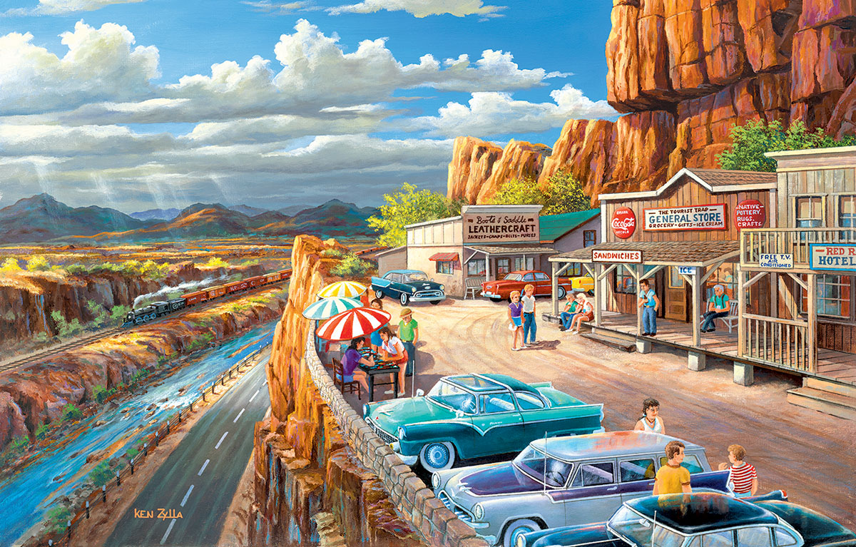 Vacationing In The Usa Jigsaw Puzzle Puzzlewarehouse Com