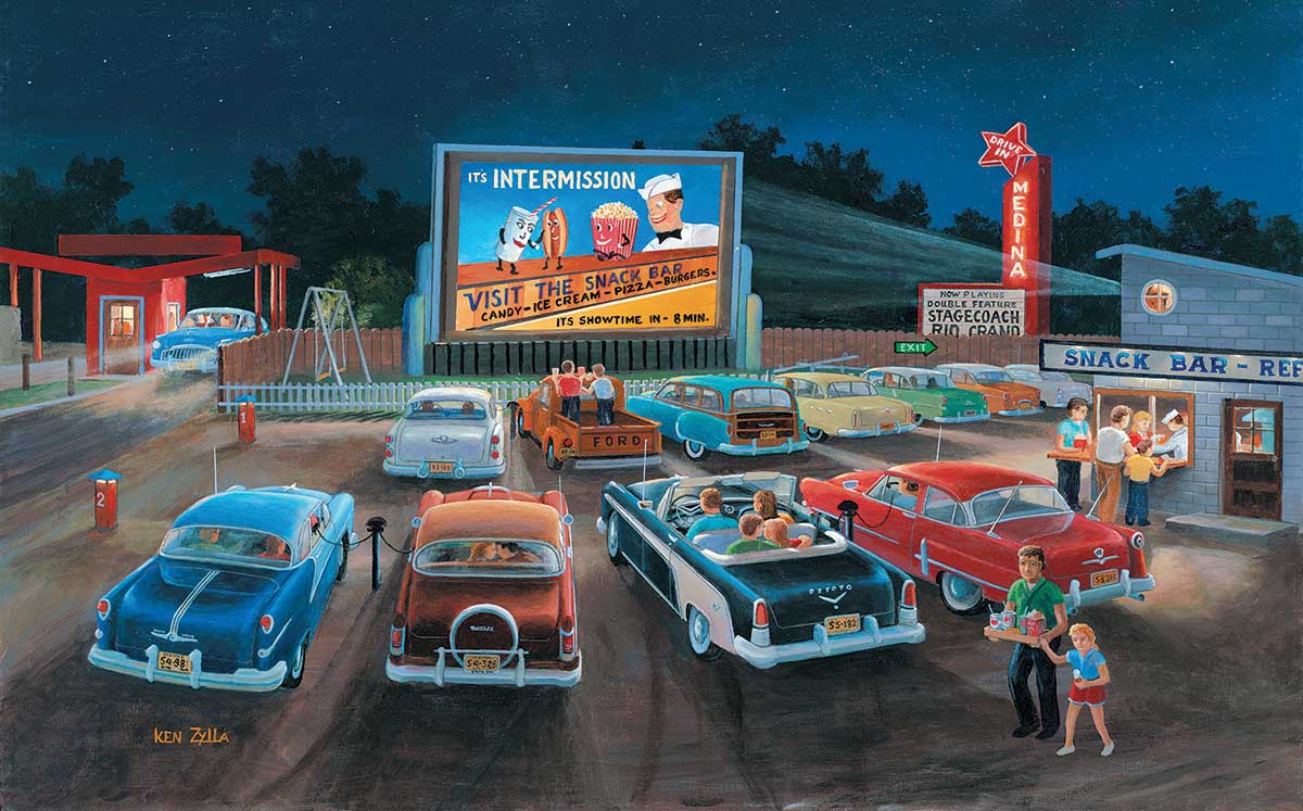 At the Movies Cars Jigsaw Puzzle