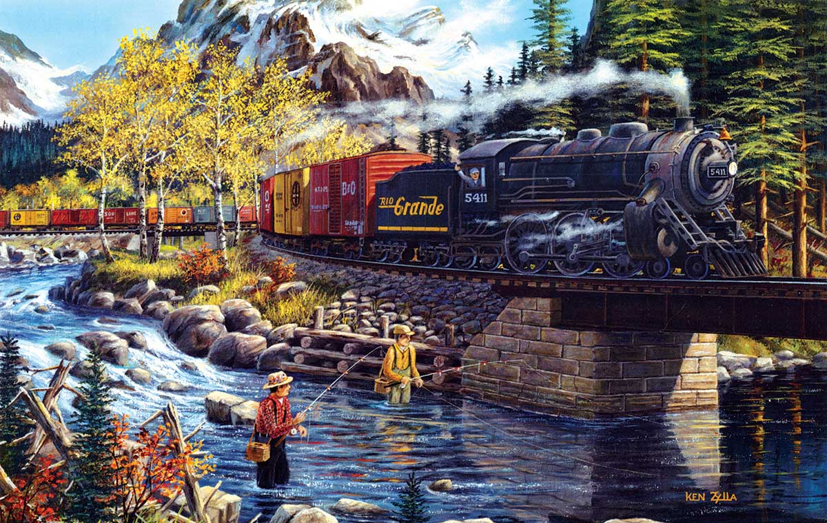 Cascade Run Trains Jigsaw Puzzle