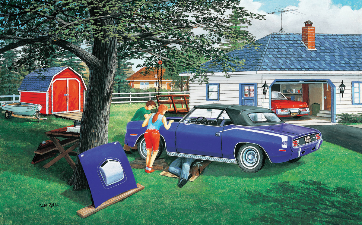 Getting Ready to Go Cars Jigsaw Puzzle