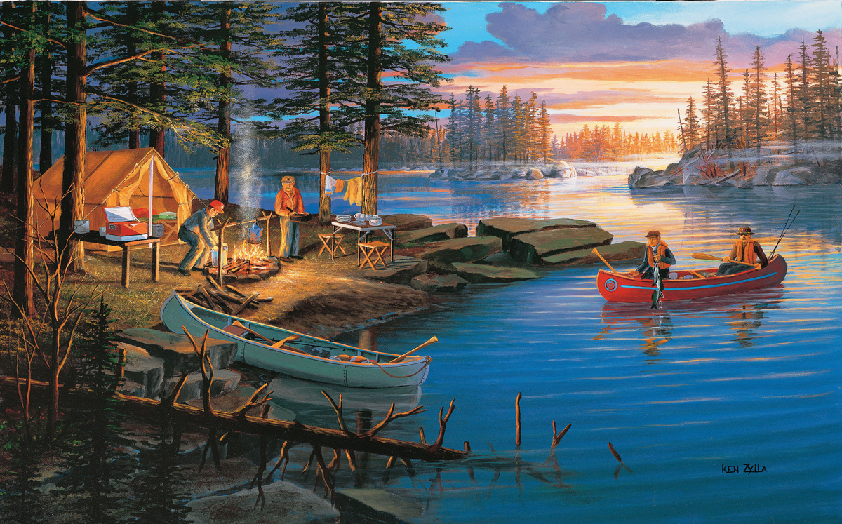 Campfire Memories Boats Jigsaw Puzzle