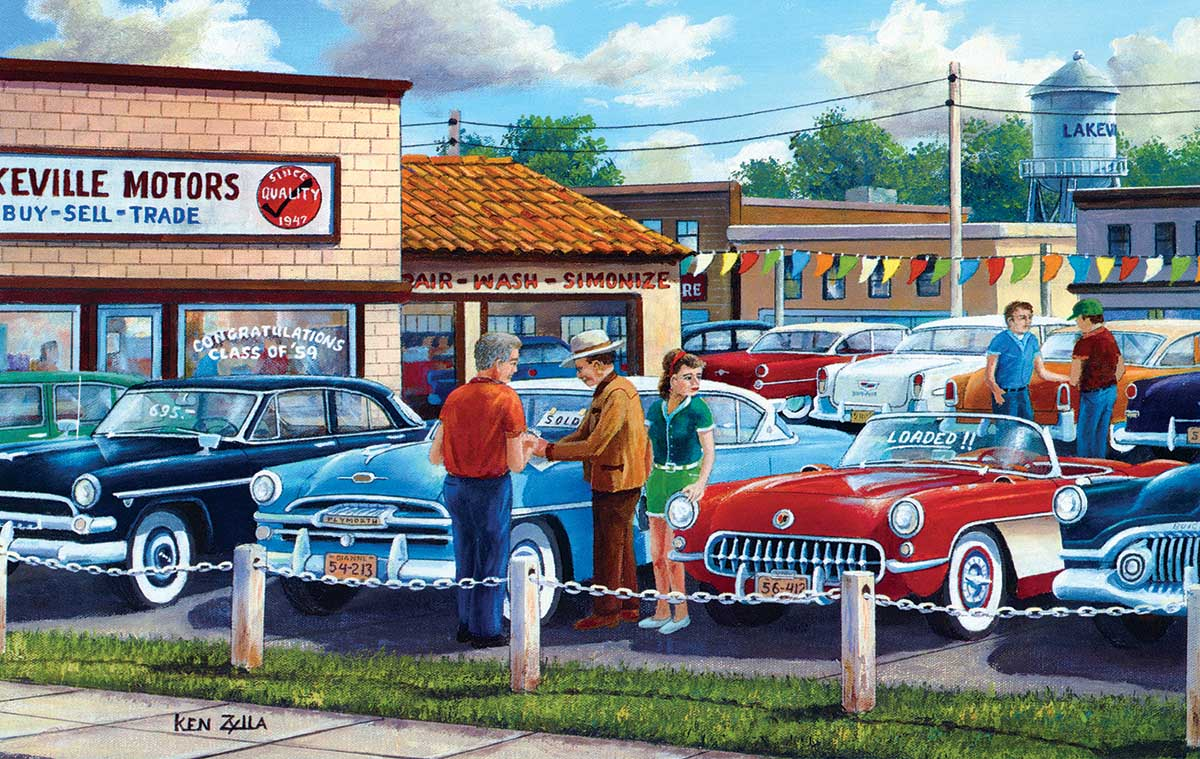 Dad's Pick Cars Jigsaw Puzzle