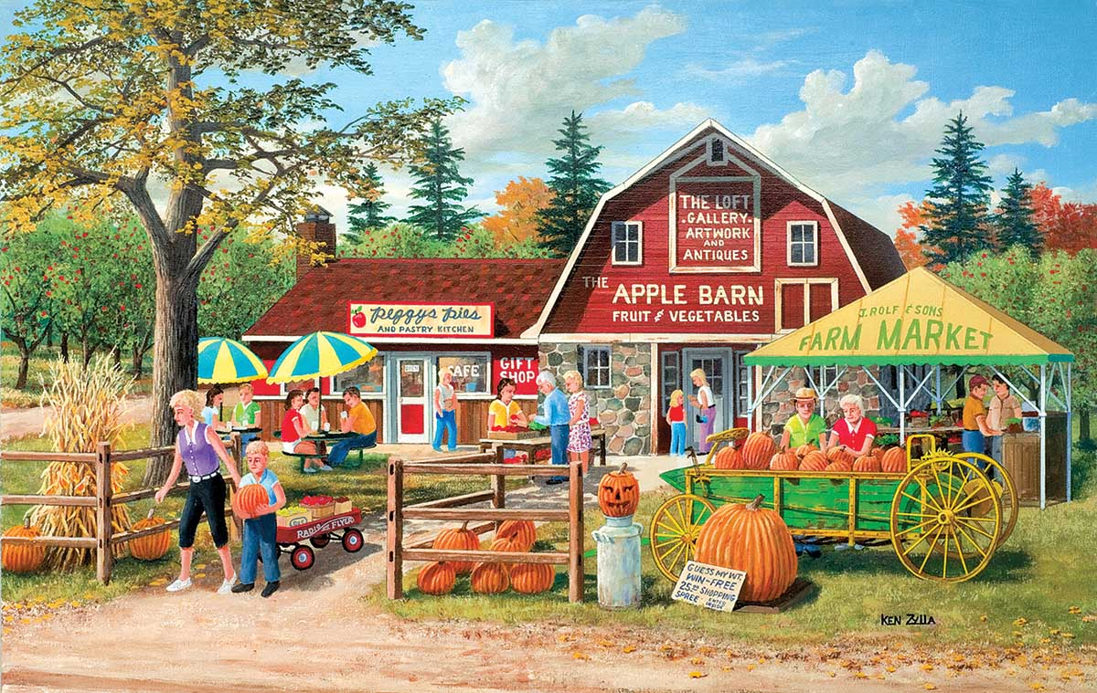 Harvest Market Countryside Jigsaw Puzzle