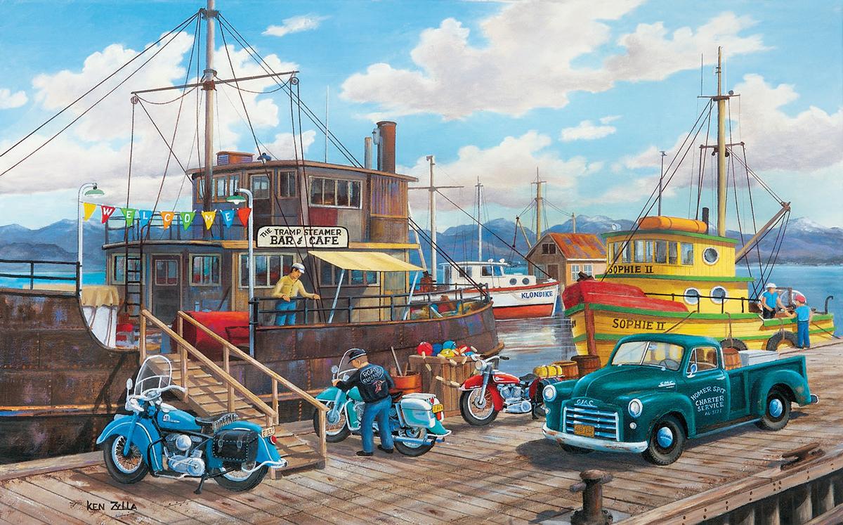 Homer Split Boats Jigsaw Puzzle