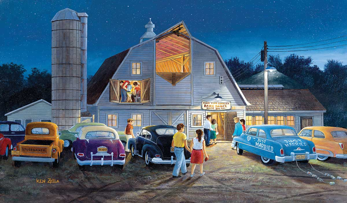 Country Barn Dance Countryside Jigsaw Puzzle