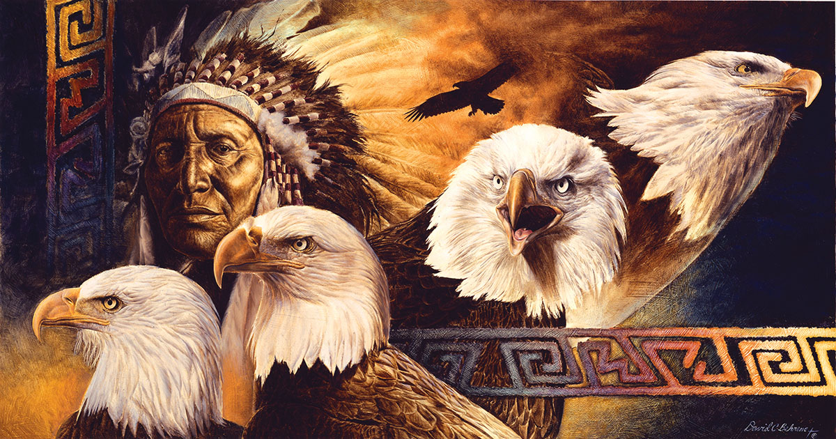 Lakota Twilight Eagles Jigsaw Puzzle
