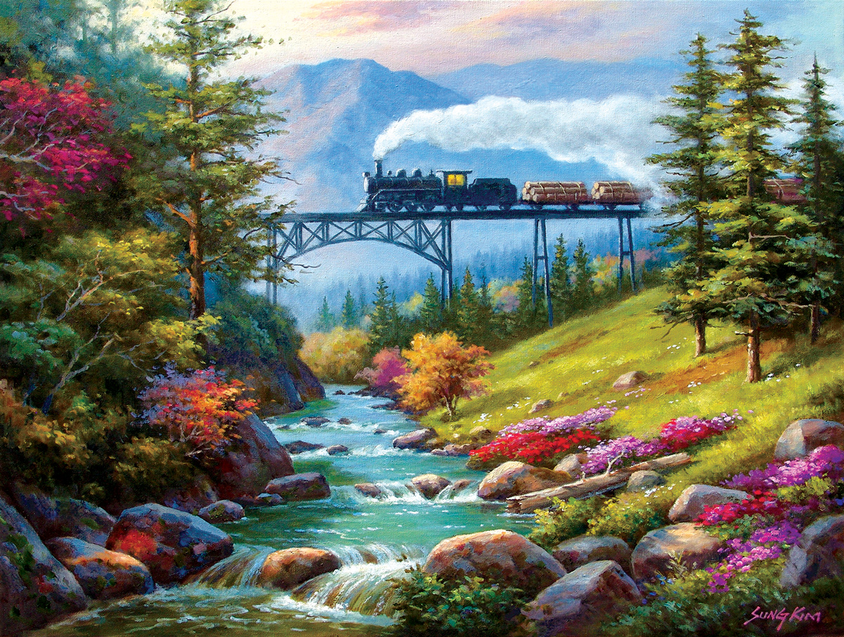 On the Way to the Mill Trains Jigsaw Puzzle