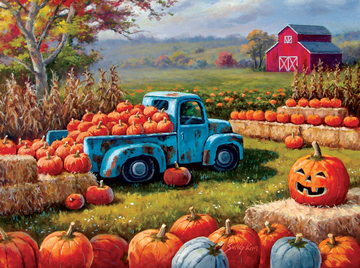 Pumpkin Farm Festival Farm Jigsaw Puzzle