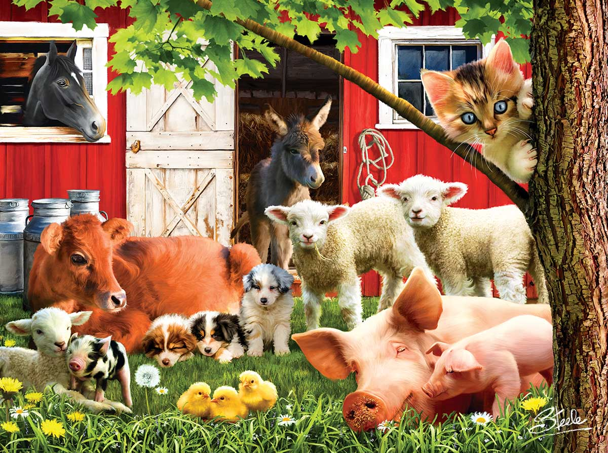 Lazy Afternoon on the farm Farm Jigsaw Puzzle