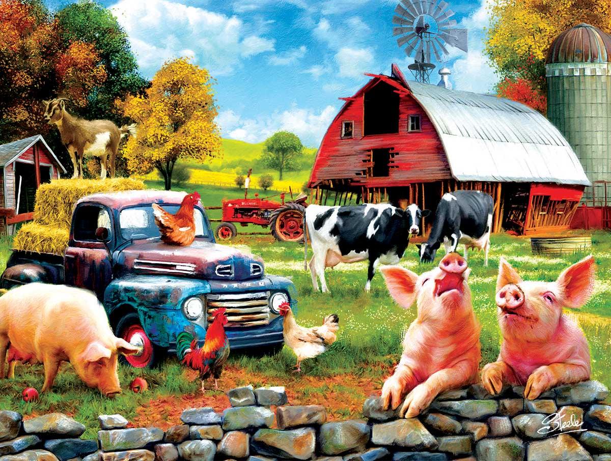 Farm Days Farm Jigsaw Puzzle