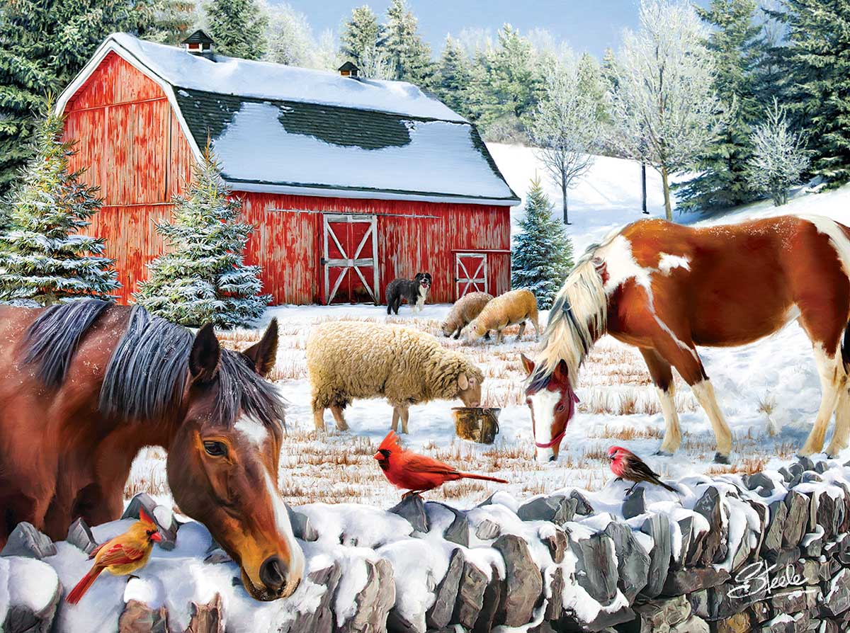 Wintering at the Farm Farm Jigsaw Puzzle