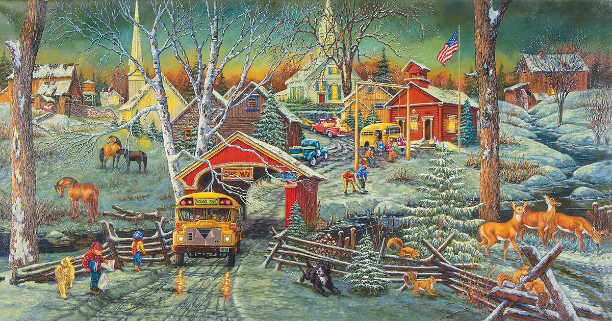 Snow Days Countryside Jigsaw Puzzle