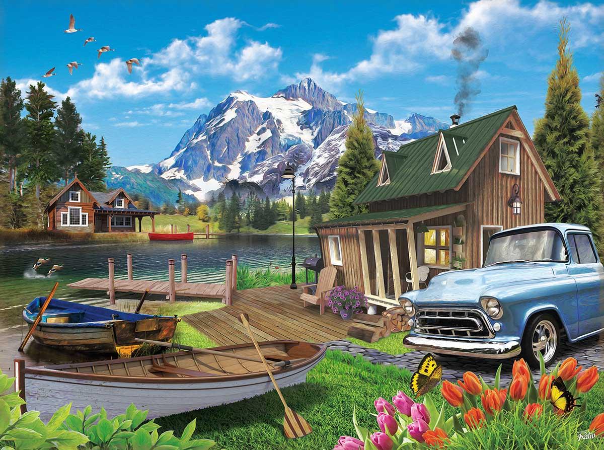 Lake Landscape Mountains Jigsaw Puzzle