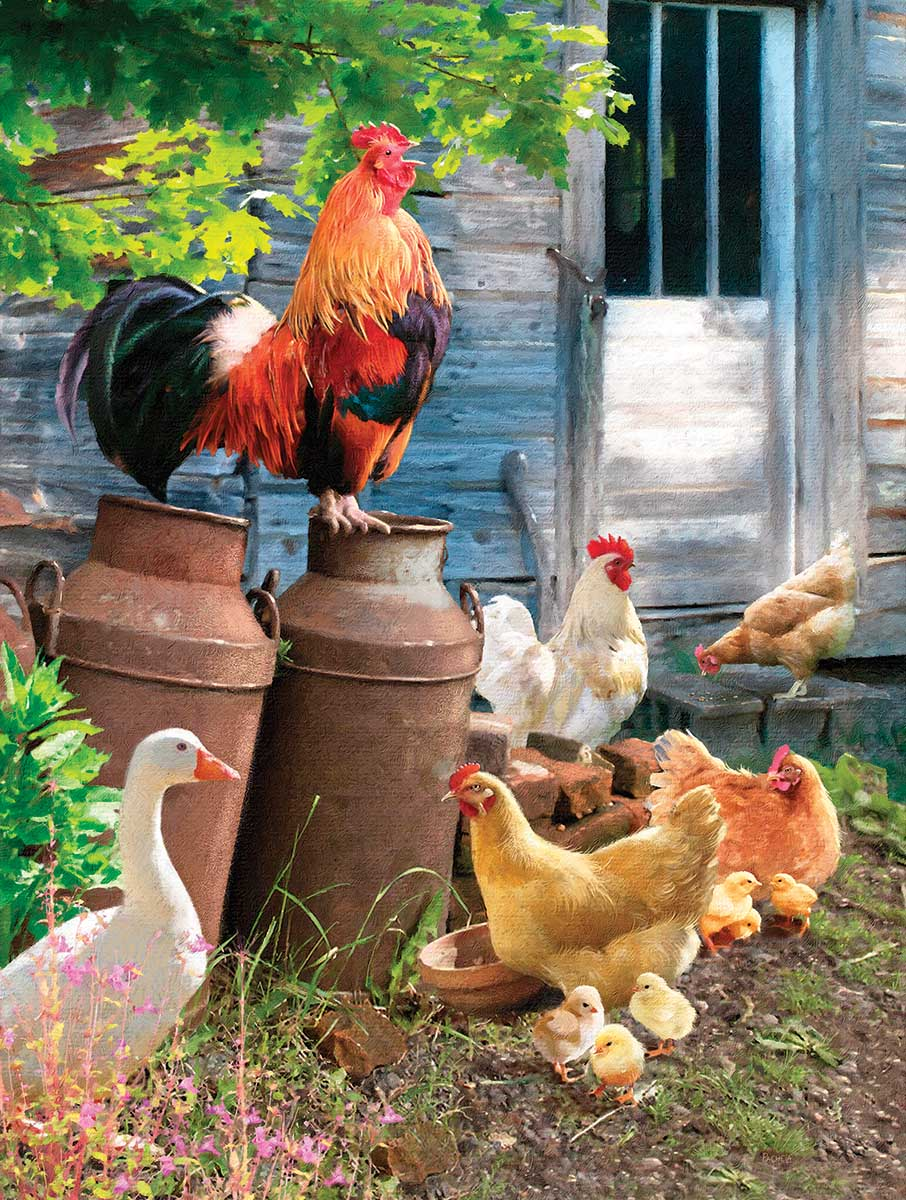 Hen Run Farm Jigsaw Puzzle