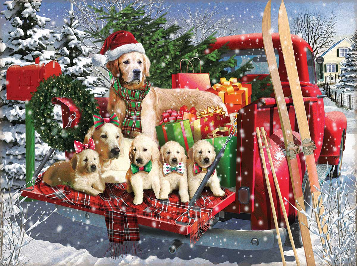 Dressed for the Season Dogs Jigsaw Puzzle