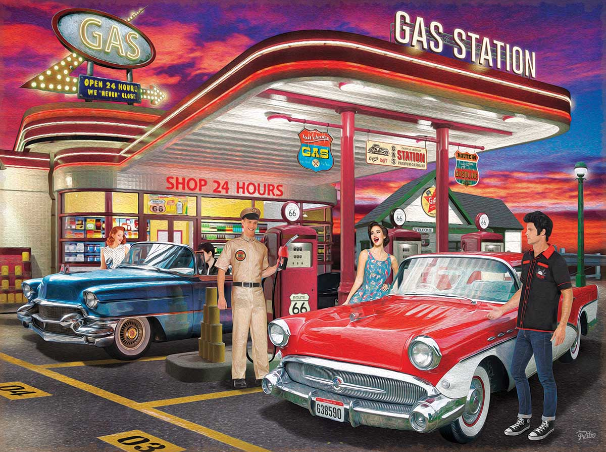Remember Those Days Cars Jigsaw Puzzle