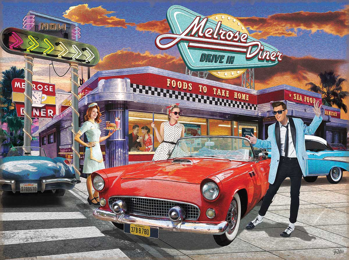Melrose Place Cars Jigsaw Puzzle