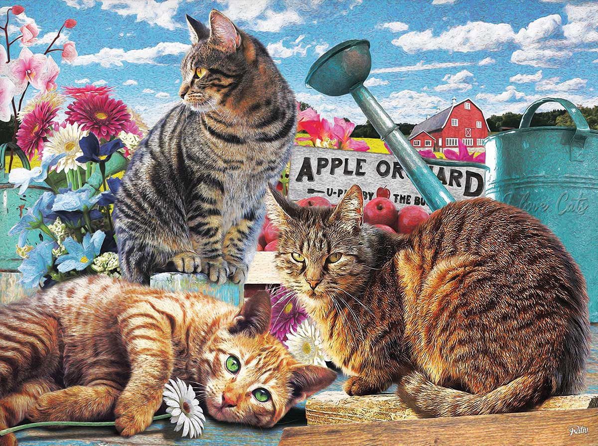 Apple Orchard Farm Jigsaw Puzzle
