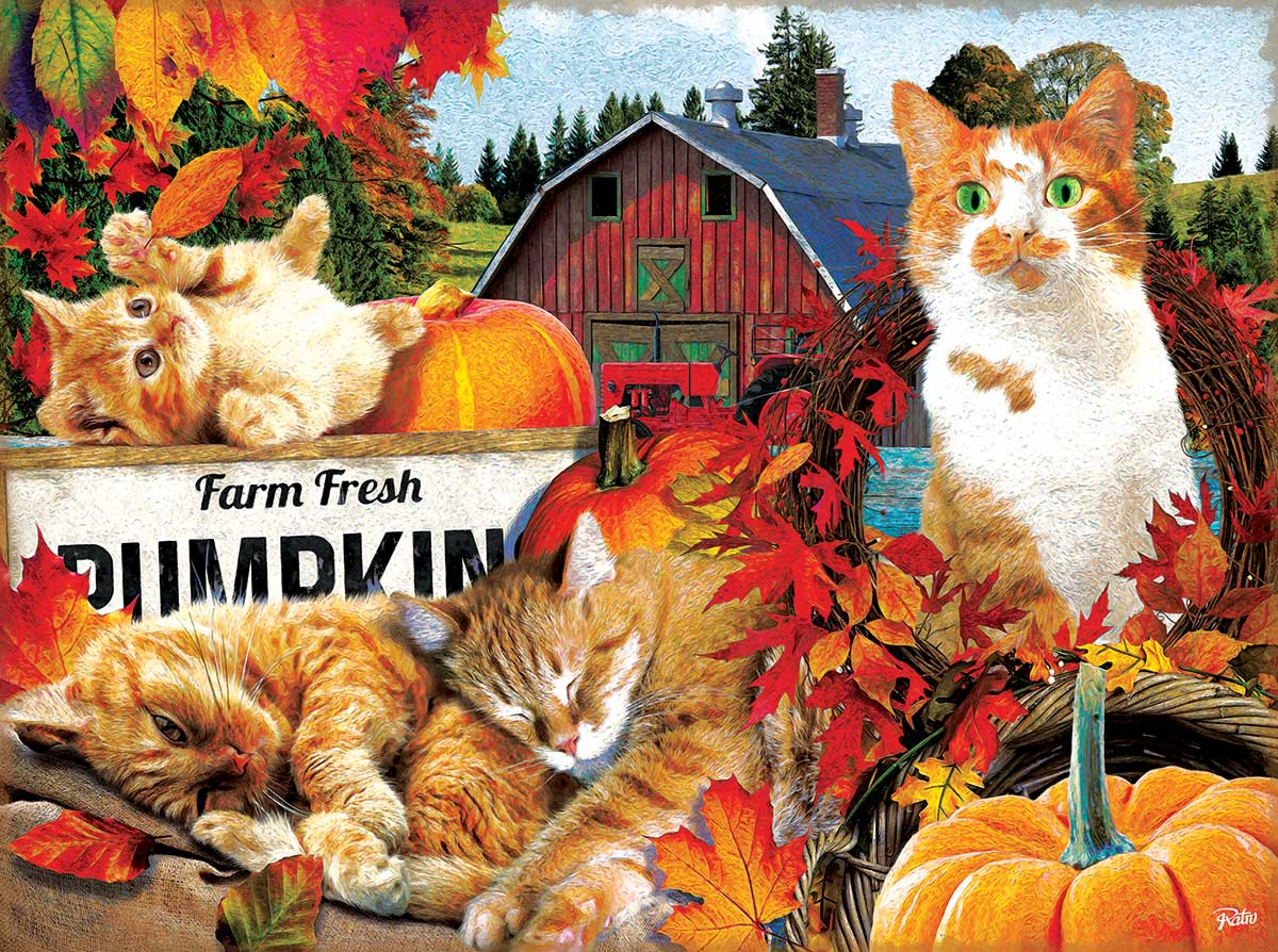 Farm Fresh Pumpkins Farm Jigsaw Puzzle