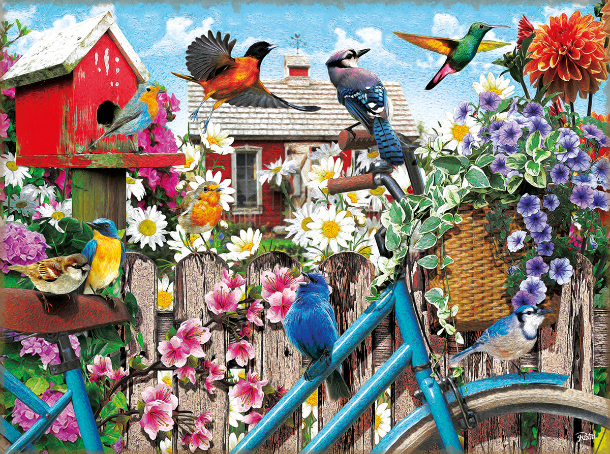 Gathering for Spring Birds Jigsaw Puzzle