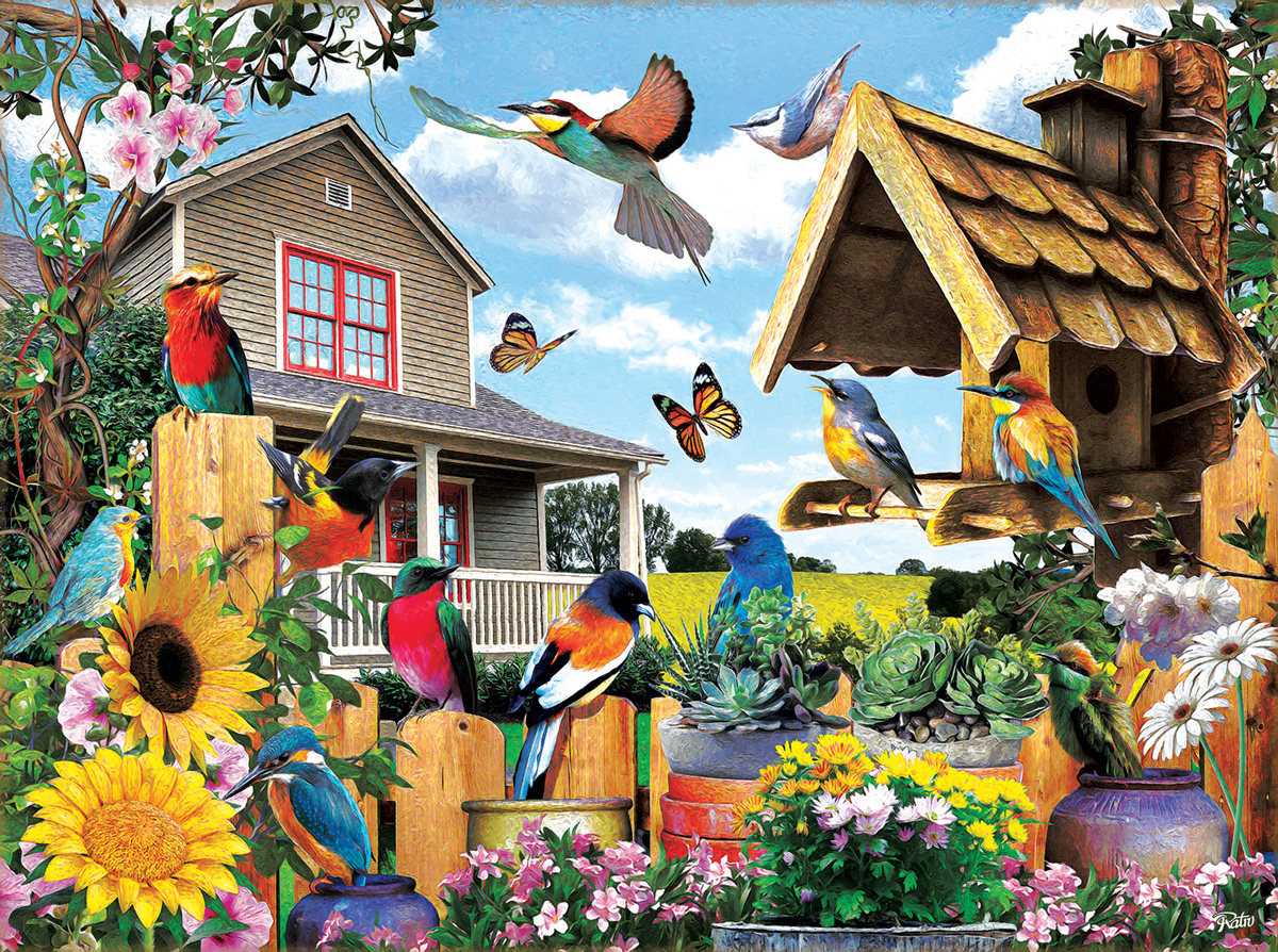 Gathering for Summer Birds Jigsaw Puzzle