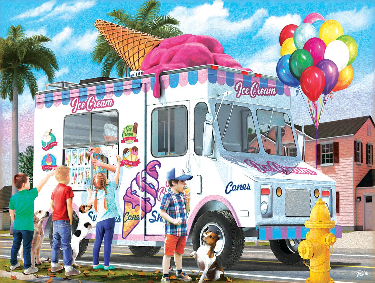 Ice Cream Cones Vehicles Jigsaw Puzzle