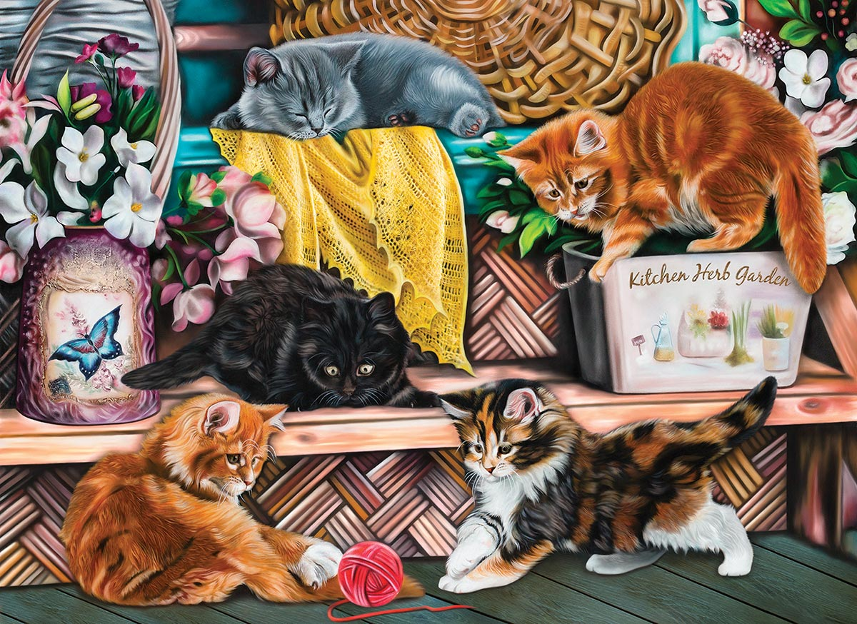 Playful Kittens Cats Jigsaw Puzzle