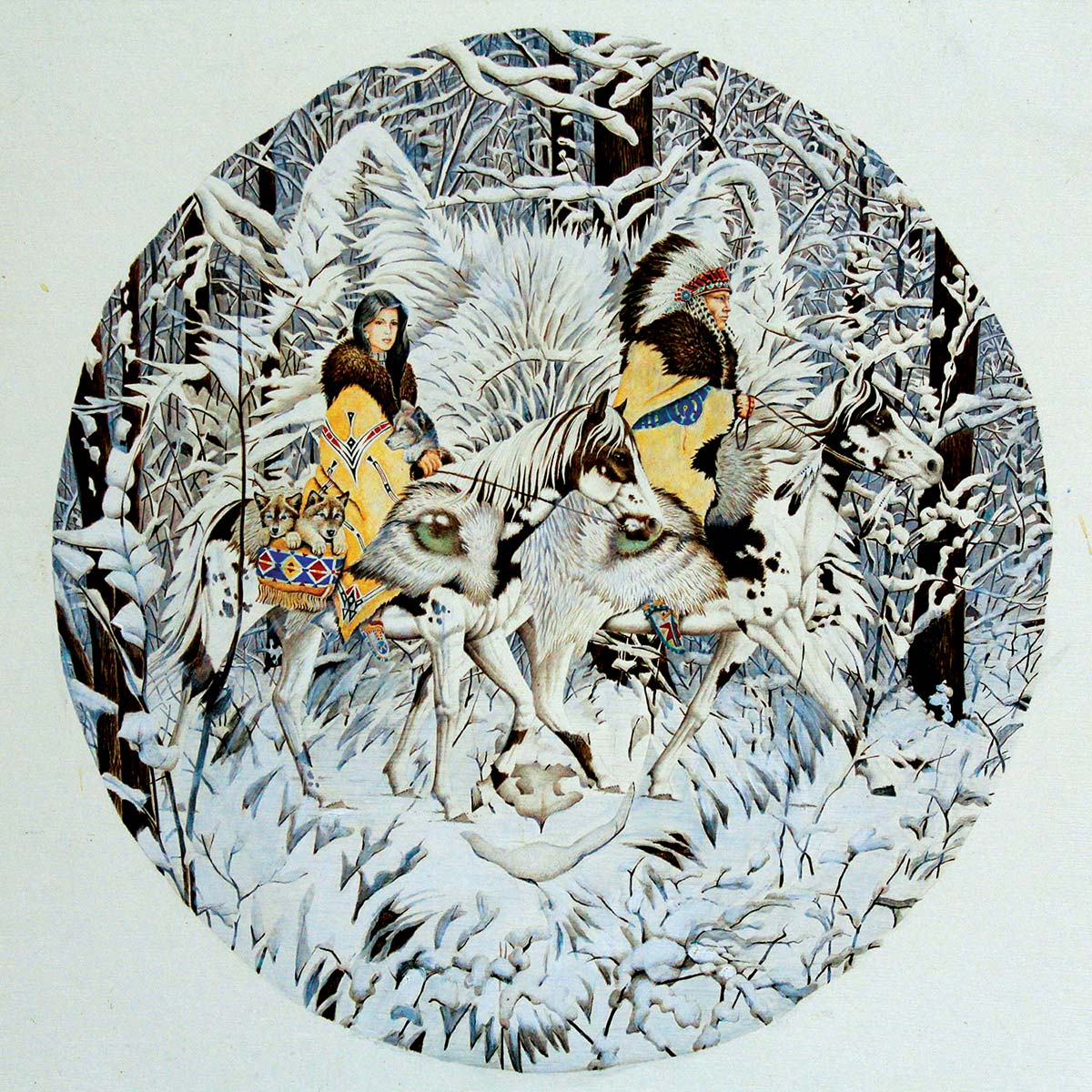Keeper of the Wolf Graphics / Illustration Jigsaw Puzzle